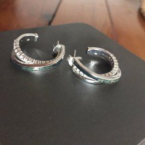 Armani Ear Hoops silver-colored-black