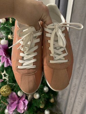 Armani Sneakers met veters oranje-wit