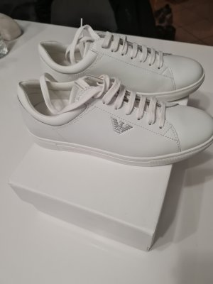 Armani Lace-Up Sneaker white