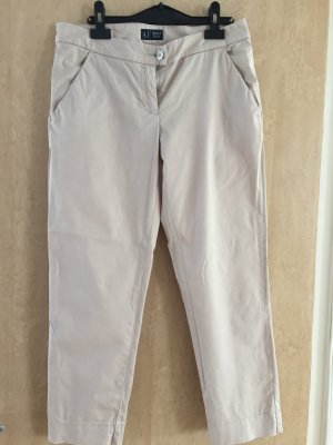 Armani 7/8 Length Trousers gold-colored cotton