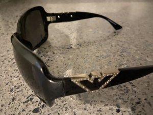 Armani Retrobril zwart-zilver