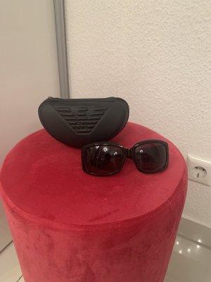 Armani Kwadratowe okulary przeciwsłoneczne czarny