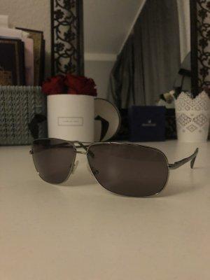 Armani Hoekige zonnebril zwart-grijs