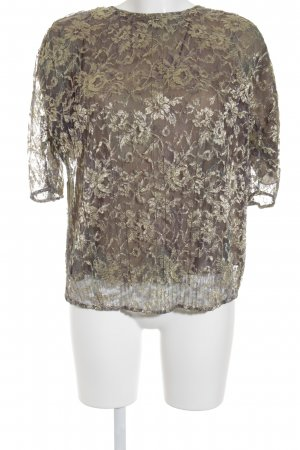 Armani Koronkowa bluzka khaki-złoto