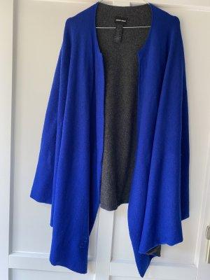 Armani Cape antraciet-blauw Wol