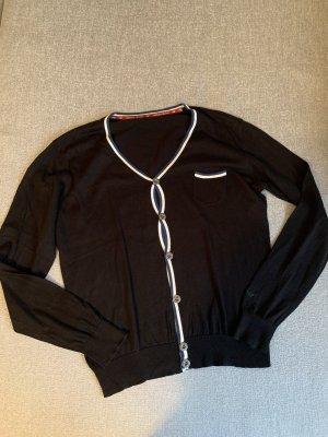 Armani Sweter z dzianiny ciemnoniebieski-w kolorze białej wełny