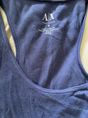 Armani Exchange Tank Top dark blue