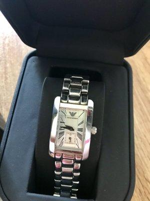 Armani Horloge met metalen riempje zilver