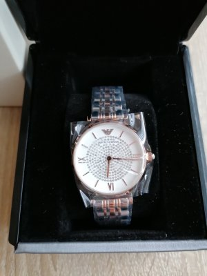 Armani Watch With Metal Strap silver-colored-rose-gold-coloured