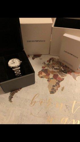 Emporio Armani Horloge met metalen riempje zilver