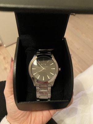 Armani Exchange Horloge met metalen riempje zwart-zilver