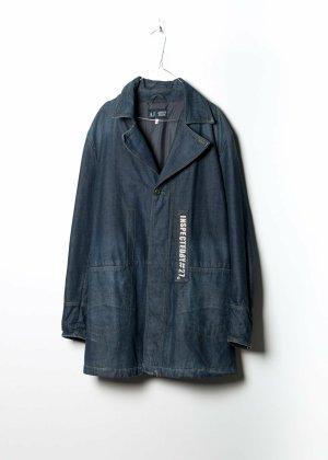 Armani Duffle-coat bleu jean
