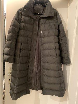 Armani Gewatteerde jas antraciet-donkergrijs