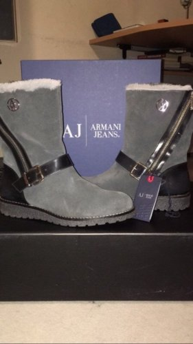 Armani Jeans Winter Booties black-grey