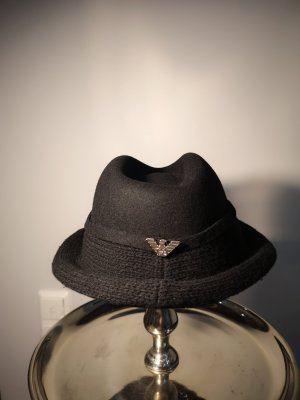ARMANI Woll Hut Mütze Luxus schwarz