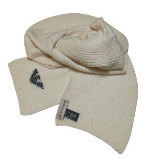 Emporio Armani Bufanda de lana blanco puro-crema
