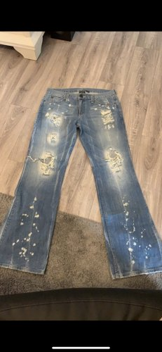 Armani Exchange Denim Flares cornflower blue