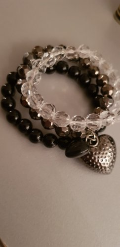 Bracelet black-silver-colored