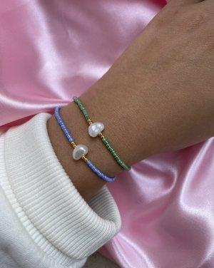 Bracelet en perles turquoise-bleu acier