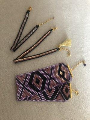 Bracelet black-lilac