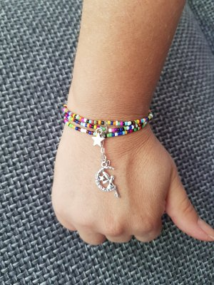 Handmade with Love Bracciale di perle multicolore