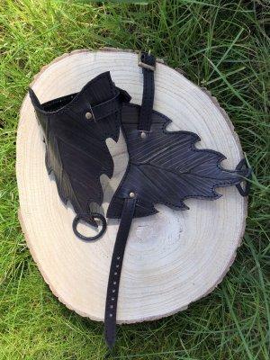 Handmade Skórzane ozdoby na ręce  czarno-brązowy-khaki Skóra