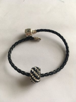 Silver Bracelet black-silver-colored