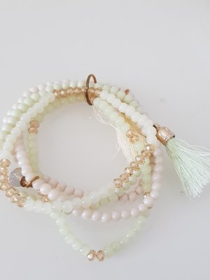 Bracelet blanc-vert menthe