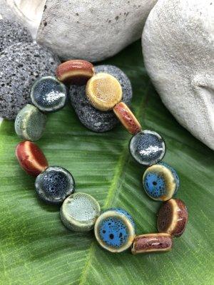 Armband 13 Keramikdonuts 1,4x0,5 cm Nr.1 Durchmesser 8,5 cm