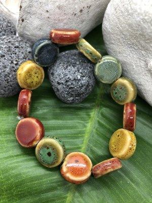 Handmade Braccialetto sottile multicolore