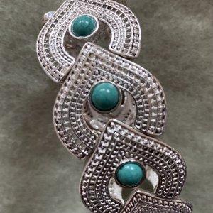 Accessoires Bransoletka srebrny-turkusowy