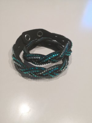 Swarovski Bracelet silver-colored-cadet blue