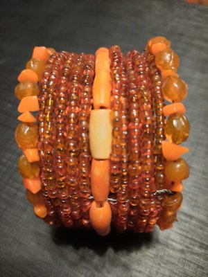 Pearl Bracelet orange