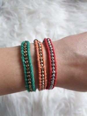 Armband 3er-Set rot grün orange H&M
