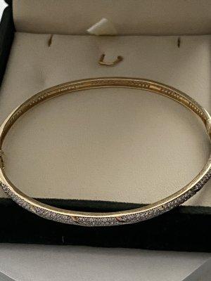 14 Karat Gold Brazalete de oro color oro-color plata