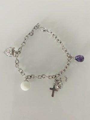 ohne Marke Silver Bracelet light grey mixture fibre