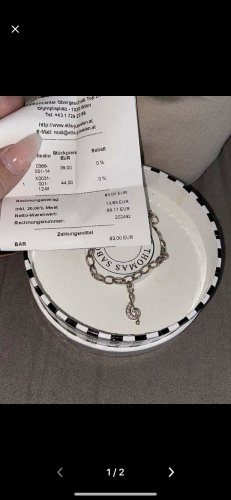 Thomas Sabo Bracelet à breloques argenté
