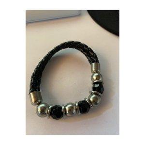 Armband zilver-zwart