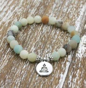 Armband Amazonit, Buddha, Mala