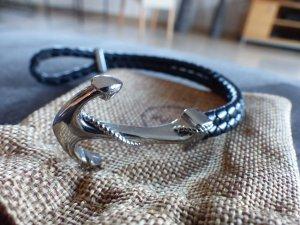 Armband Anker mit schwarzer Kordel von Noatak *neuwertig*