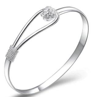 Bracelet de bras argenté métal