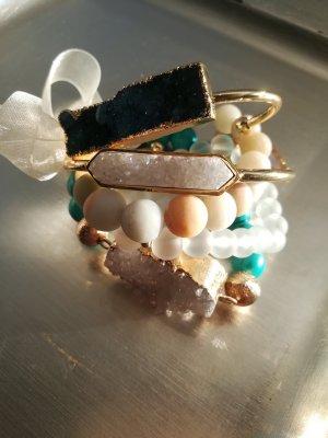 Armband aus Drusen und Natursteinen, Handmade