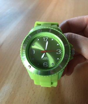 Analoog horloge neon groen