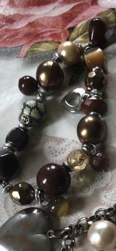 Bracelet argenté-brun