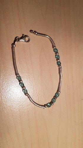 Bracelet argenté-bleu clair