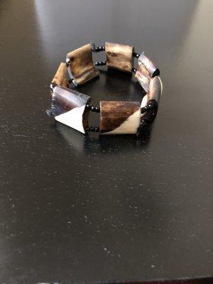Bracelet brun foncé-beige clair