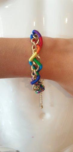 Claires Armband licht Oranje-blauw