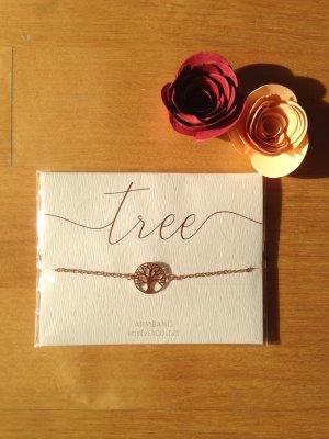 Armband Baum des Lebens Rosé vergoldet