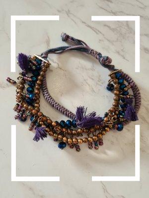 Bijou Brigitte Armband blauw-paars-donkerblauw