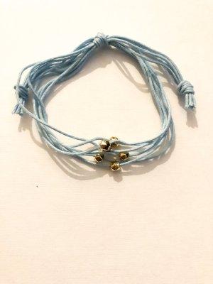 Bracelet bleu azur-doré